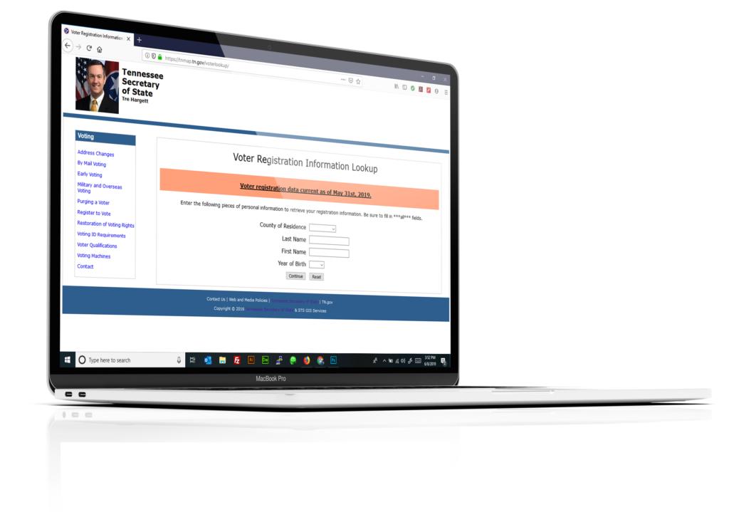 Voter registration Website